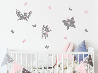Wandtattoo Fröhliche Schmetterlinge