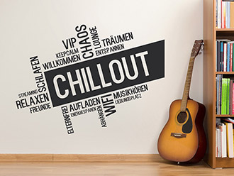 Wandtattoo Coole Chillout Wortwolke
