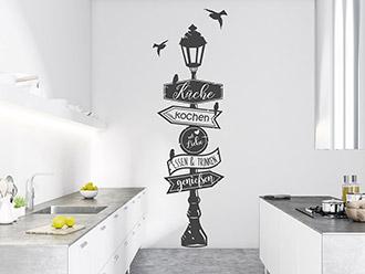 Wandtattoo Küchenwegweiser mit Vögeln