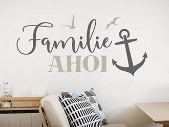 Wandtattoo Familie Ahoi