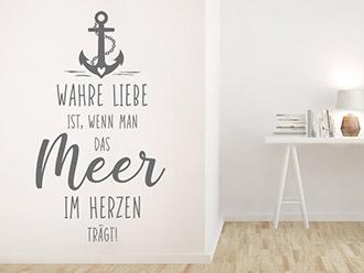 Wandtattoo Wahre Liebe Meer
