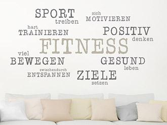 Wandtattoo Fitness Gesundheit Sport