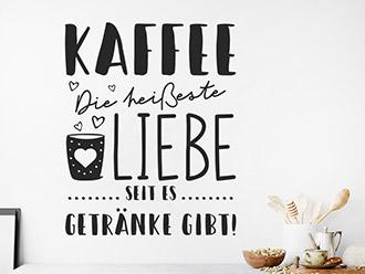 Wandtattoo Heiße Liebe Kaffee
