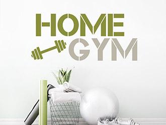 Wandtattoo Home Gym