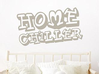 Wandtattoo Home Chiller