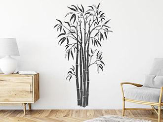 Wandtattoo Moderne Bambus Pflanze