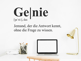 Wandtattoo Genie Definition