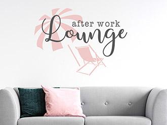 Wandtattoo After work Lounge