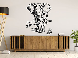 Wandtattoo Imposanter Elefant