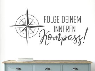 Wandtattoo Folge deinem inneren Kompass