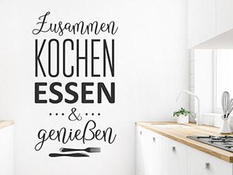 Wandtattoo Zusammen kochen