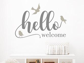 Wandtattoo Hello Welcome