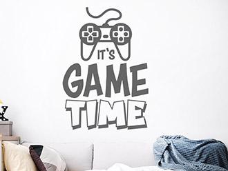 Wandtattoo Game Time