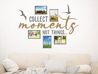 Wandtattoo Fotorahmen Collect moments