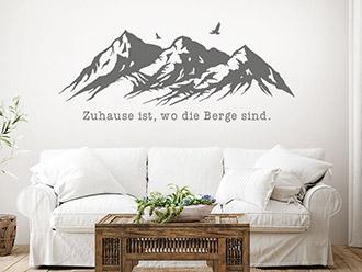Wandtattoo Zuhause ist wo die Berge sind