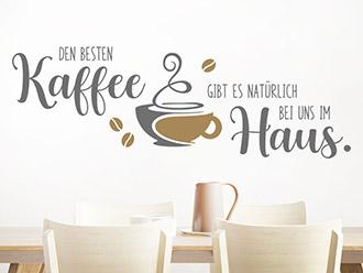 Wandtattoo Den besten Kaffee
