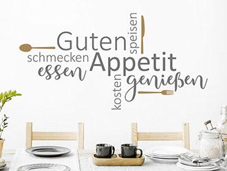 Wandtattoo Guten Appetit Wortwolke