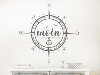 Wandtattoo Moin Kompass