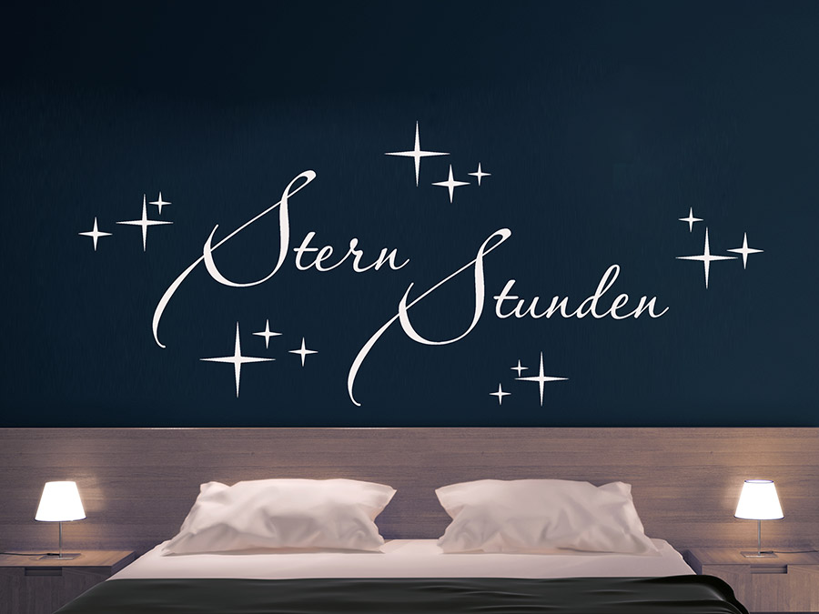 wandtattoo sternstunden schriftzug wandtattoo de. Black Bedroom Furniture Sets. Home Design Ideas