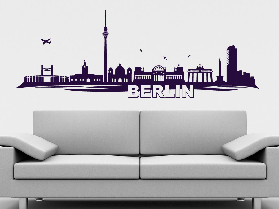 wandtattoo berlin skyline von. Black Bedroom Furniture Sets. Home Design Ideas