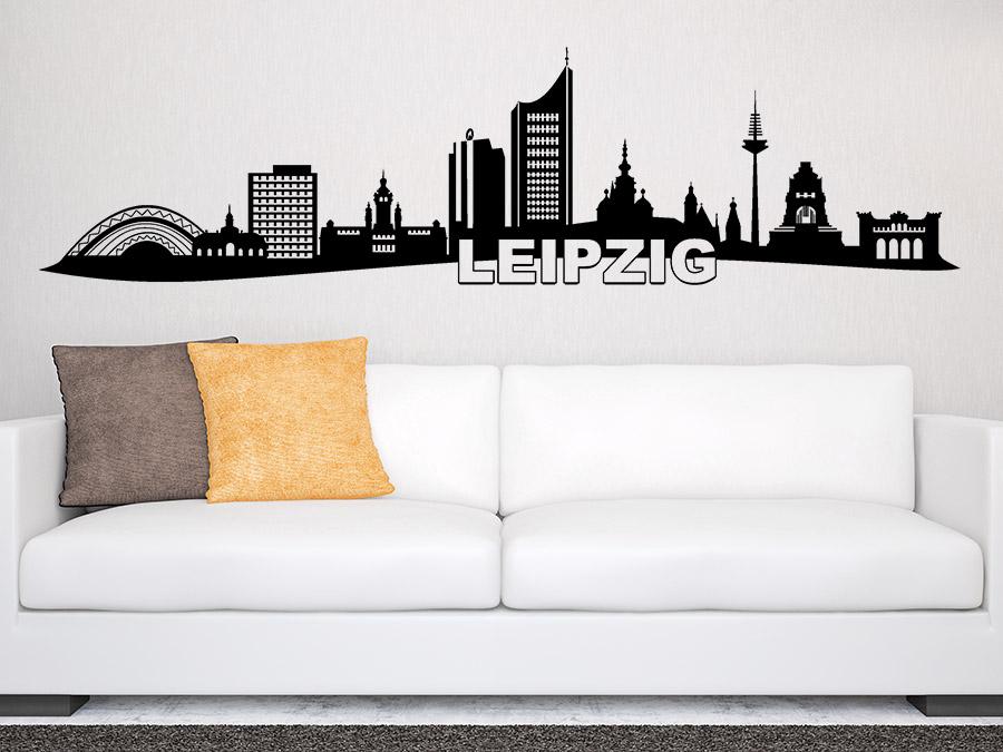 wandtattoo skyline leizpig bei. Black Bedroom Furniture Sets. Home Design Ideas