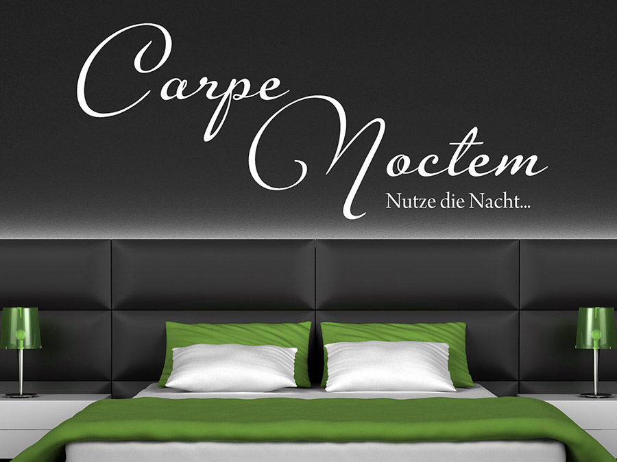 wandtattoo carpe noctem nutze die nacht bei. Black Bedroom Furniture Sets. Home Design Ideas