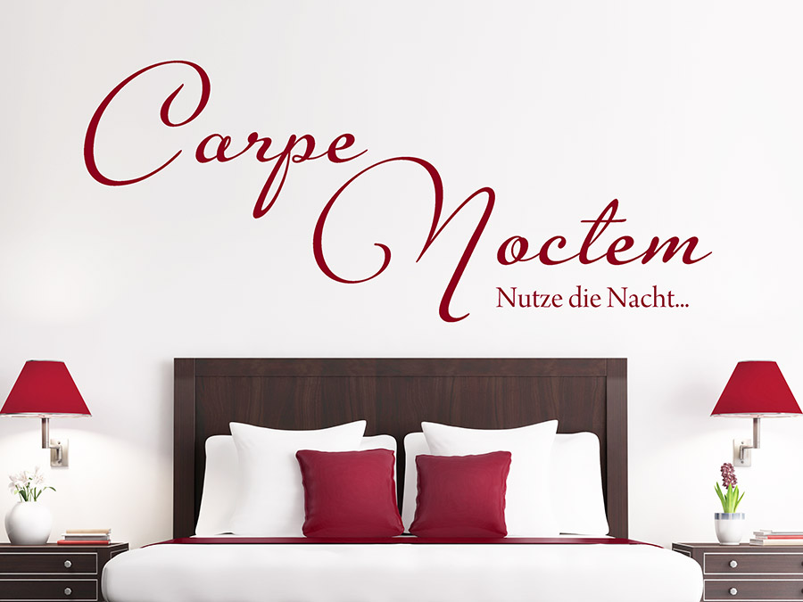 wandtattoo carpe noctem nutze die nacht wandtattoo de. Black Bedroom Furniture Sets. Home Design Ideas