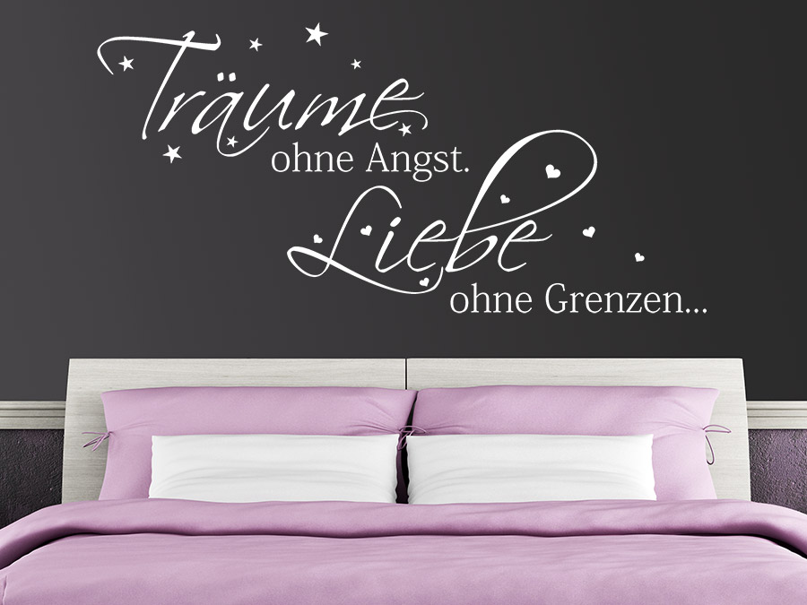 wandtattoo tr ume ohne angst spruch von. Black Bedroom Furniture Sets. Home Design Ideas