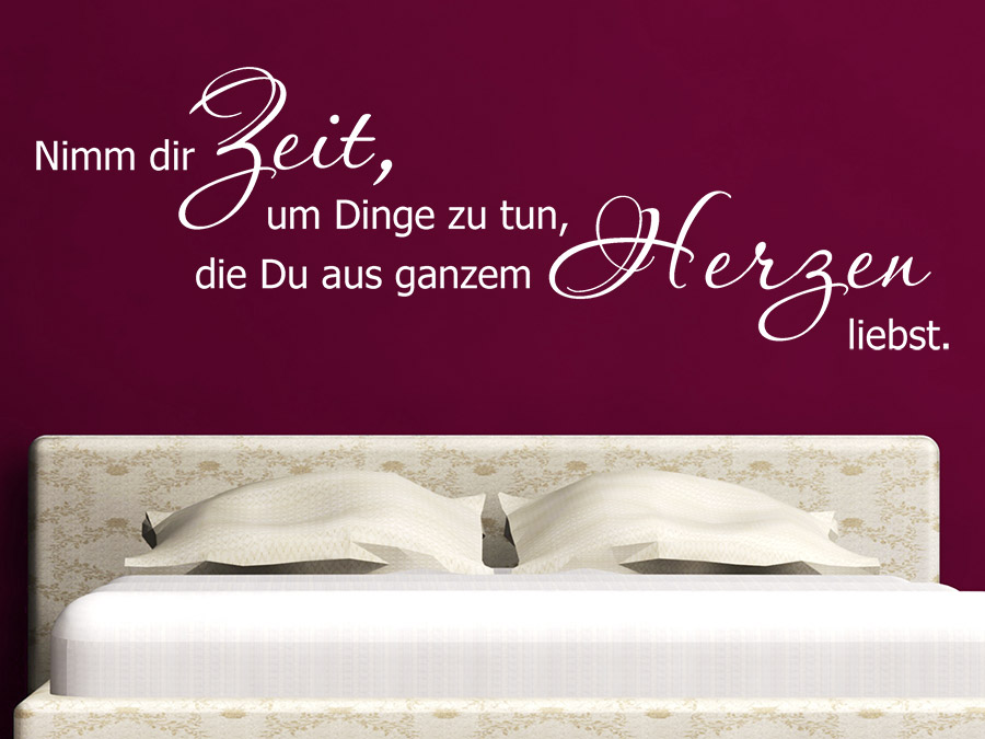wandtattoo aus ganzem herzen motivation spruch wandtattoo de. Black Bedroom Furniture Sets. Home Design Ideas
