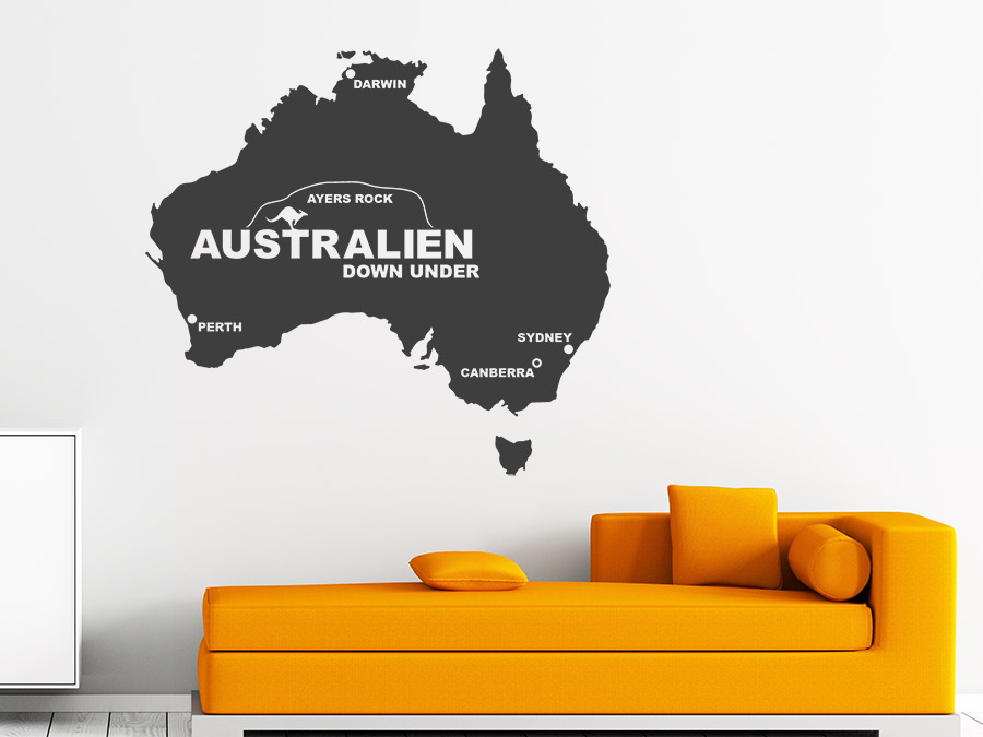 Wandtattoo Australien
