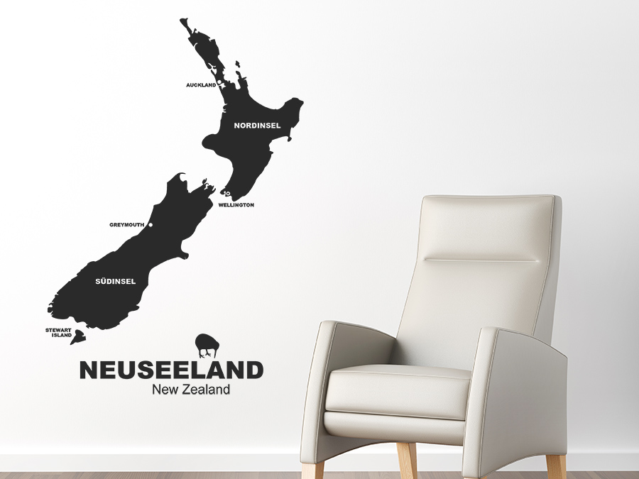 Wandtattoo Neuseeland