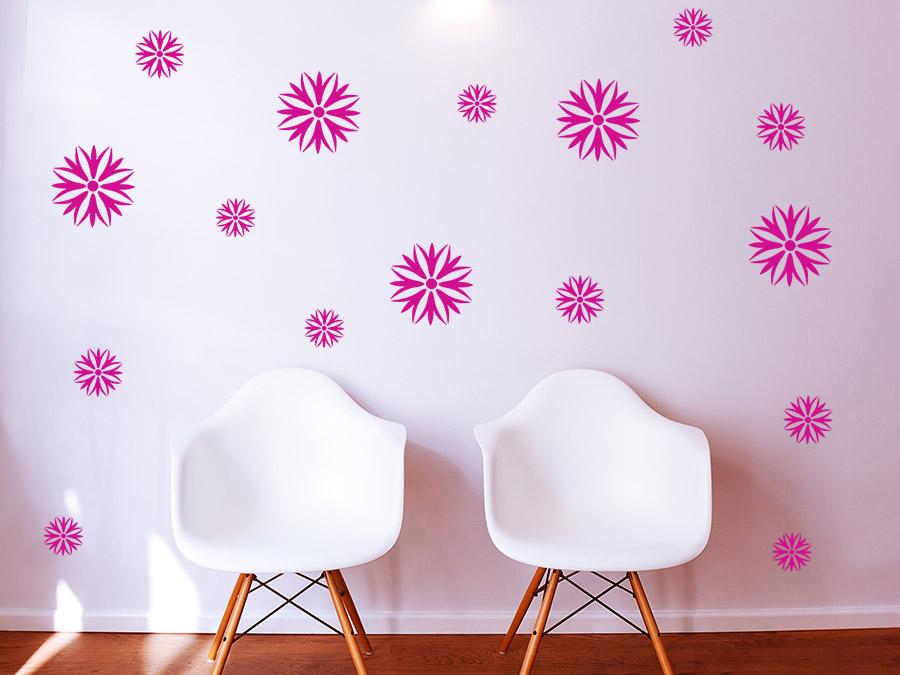 Wandtattoo Blüten Set