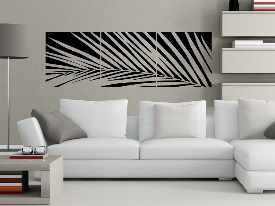 wandtattoo banner palmwedel bei. Black Bedroom Furniture Sets. Home Design Ideas