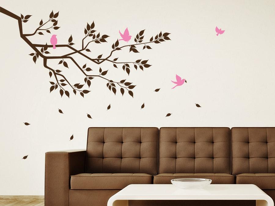 wandtattoo ast mit bl ttern von. Black Bedroom Furniture Sets. Home Design Ideas