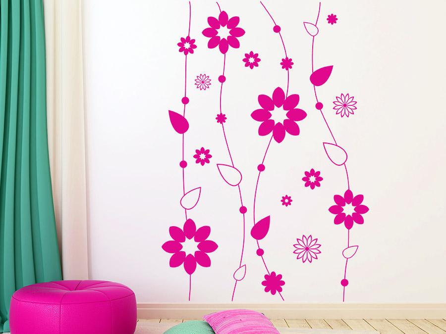 wandtattoo dekorative blumenketten bei. Black Bedroom Furniture Sets. Home Design Ideas