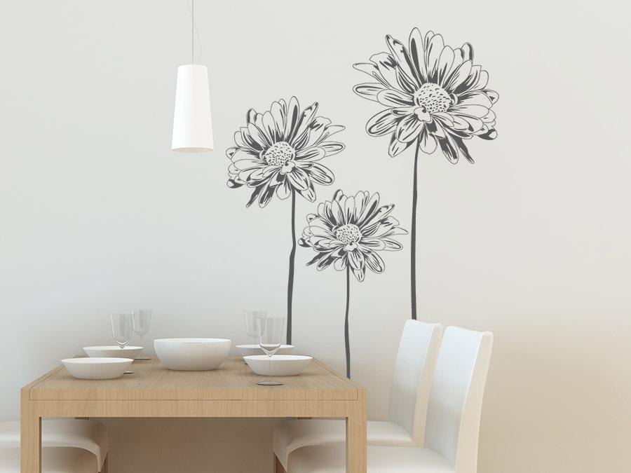 wandtattoo margeriten von. Black Bedroom Furniture Sets. Home Design Ideas