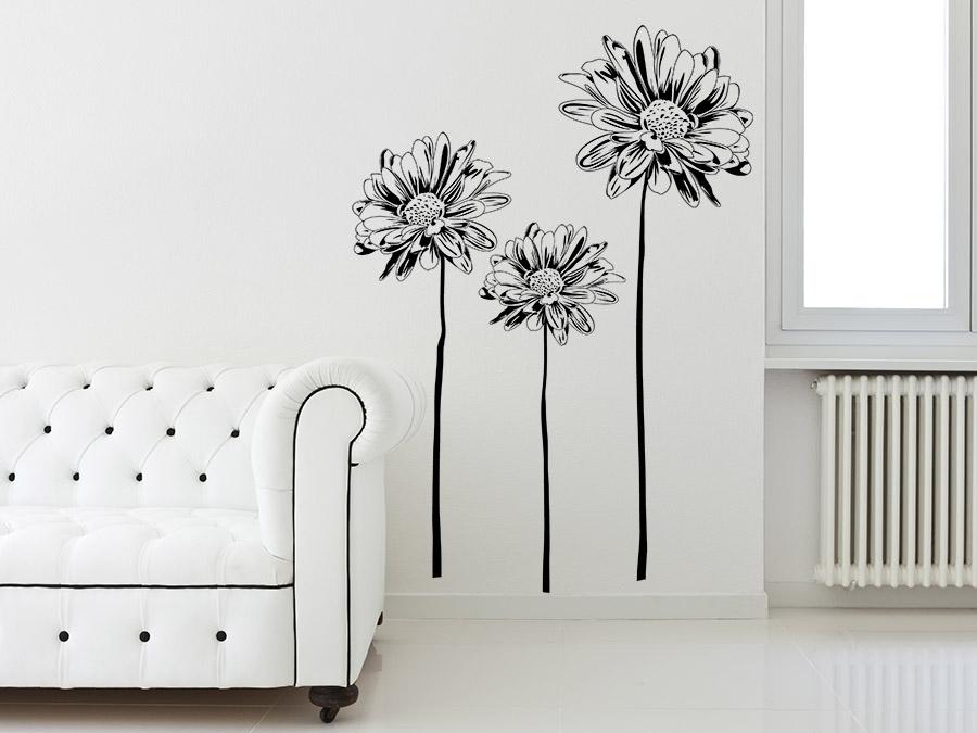 wandtattoo margeriten bei. Black Bedroom Furniture Sets. Home Design Ideas