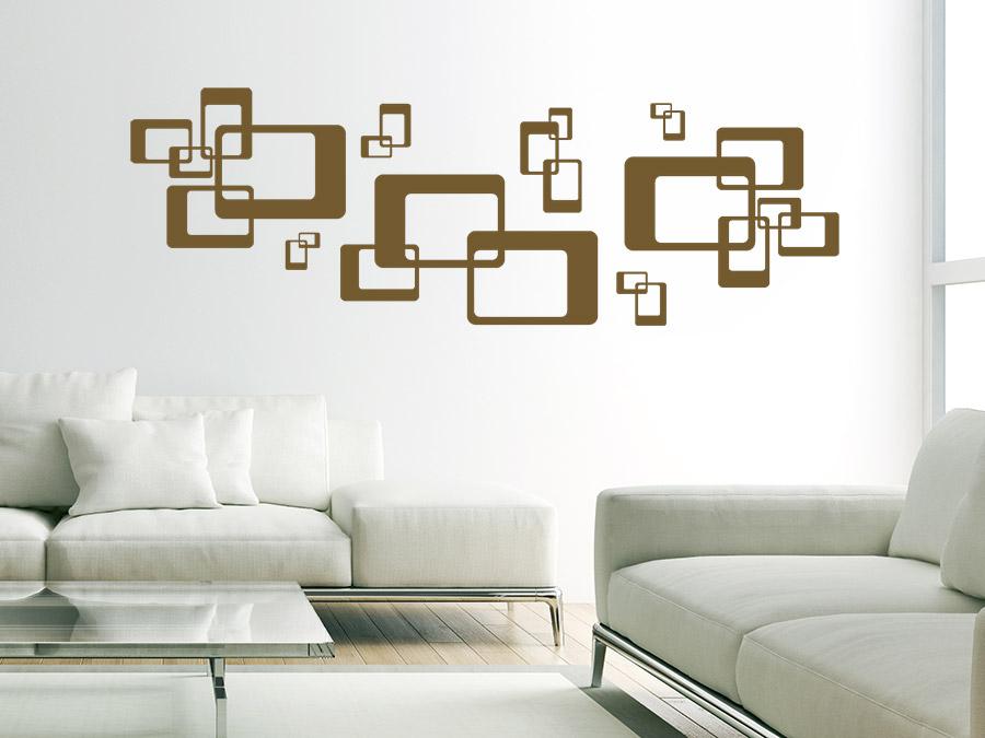 retro farben wohnzimmer:Dieses stylische Wandtattoo Ornament mit Retro Rechtecken ist eine