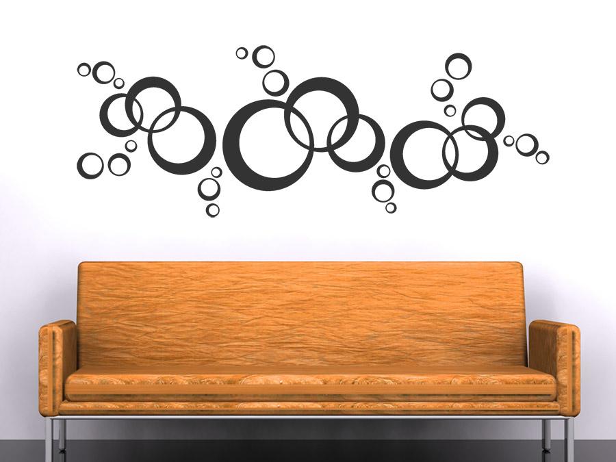 wandtattoo ornament kreise von. Black Bedroom Furniture Sets. Home Design Ideas