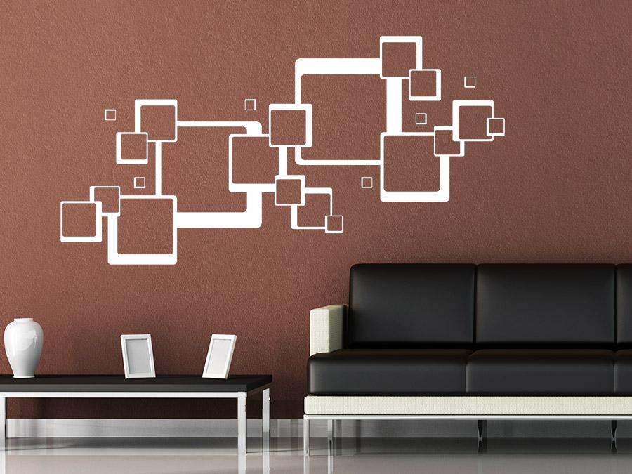 wandtattoo ornament retro quadrate von. Black Bedroom Furniture Sets. Home Design Ideas