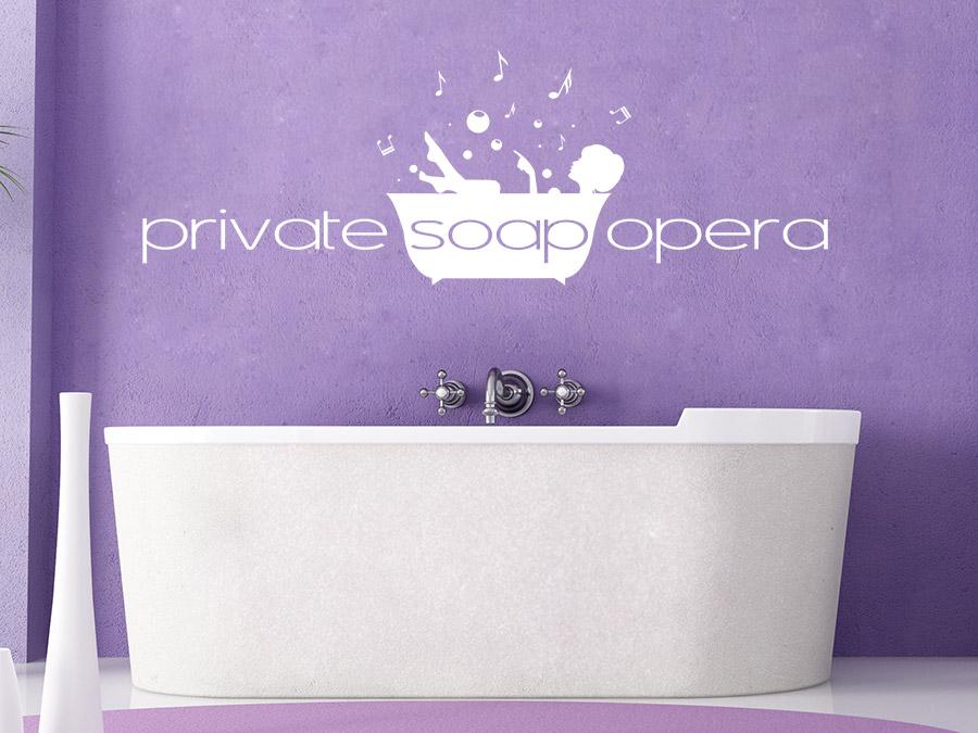Wandtattoo Soap Opera Badezimmer Dekoration