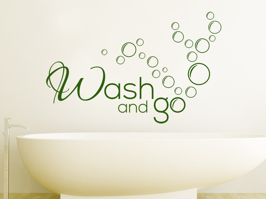 Wandtattoo Wash And Go Mit Luftblasen
