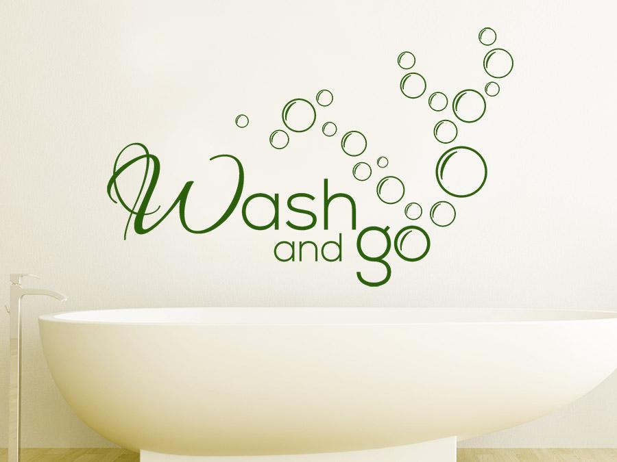 wandtattoo wash and go bad von. Black Bedroom Furniture Sets. Home Design Ideas