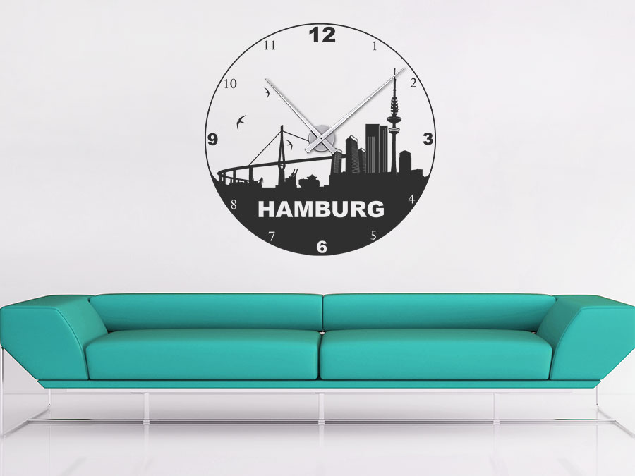 wandtattoo uhr hamburg reuniecollegenoetsele. Black Bedroom Furniture Sets. Home Design Ideas