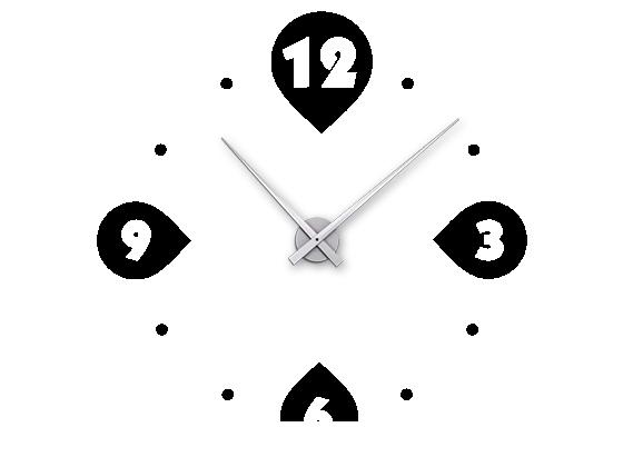 Moderne Uhr wandtattoo uhr moderne kreise wanduhr wandtattoo de