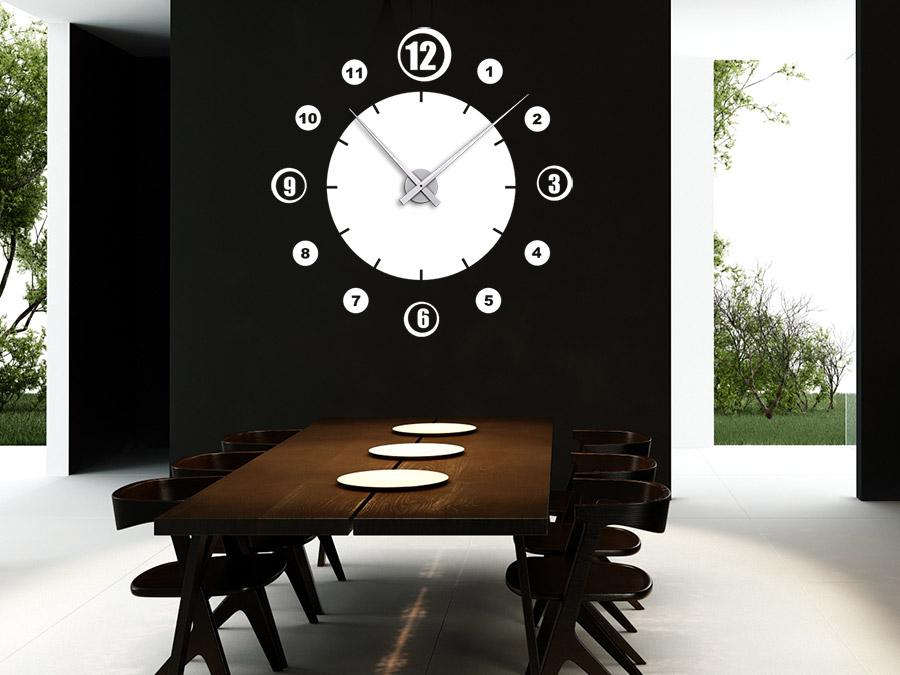 wandtattoo uhr retro zahlen wanduhr wandtattoo de. Black Bedroom Furniture Sets. Home Design Ideas