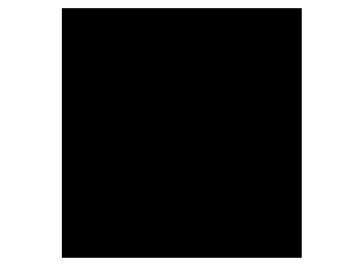 Ansicht Uhr Retro Zahlen als Wandtattoo