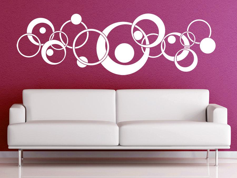 wandtattoo ornament retro circles bei. Black Bedroom Furniture Sets. Home Design Ideas