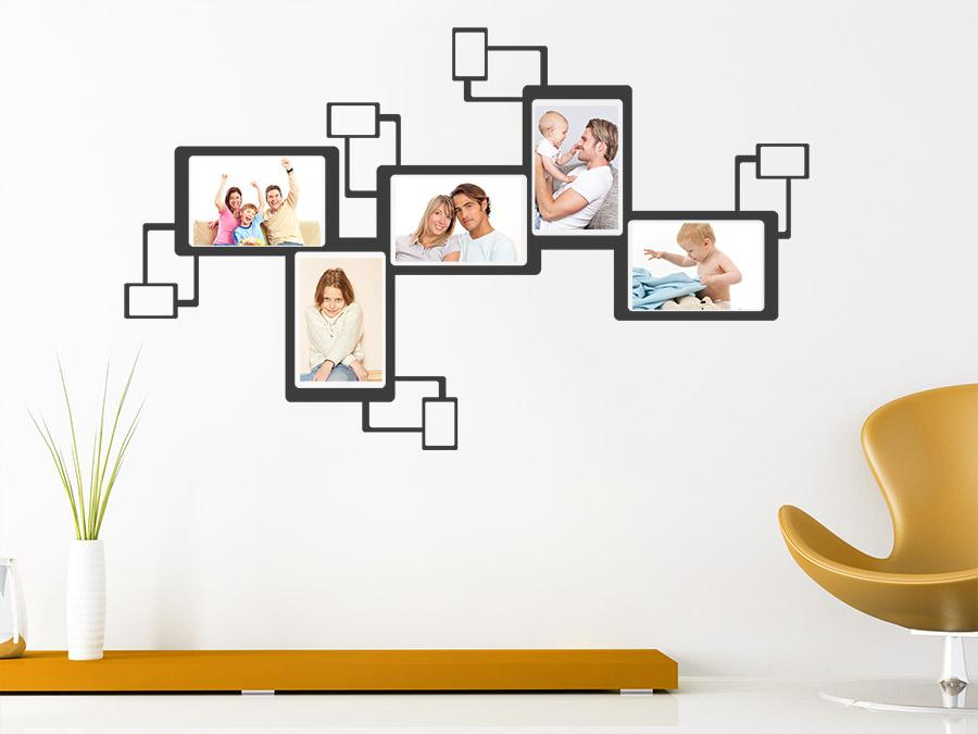 wandtattoo bilderrahmen love story an der wand. Black Bedroom Furniture Sets. Home Design Ideas