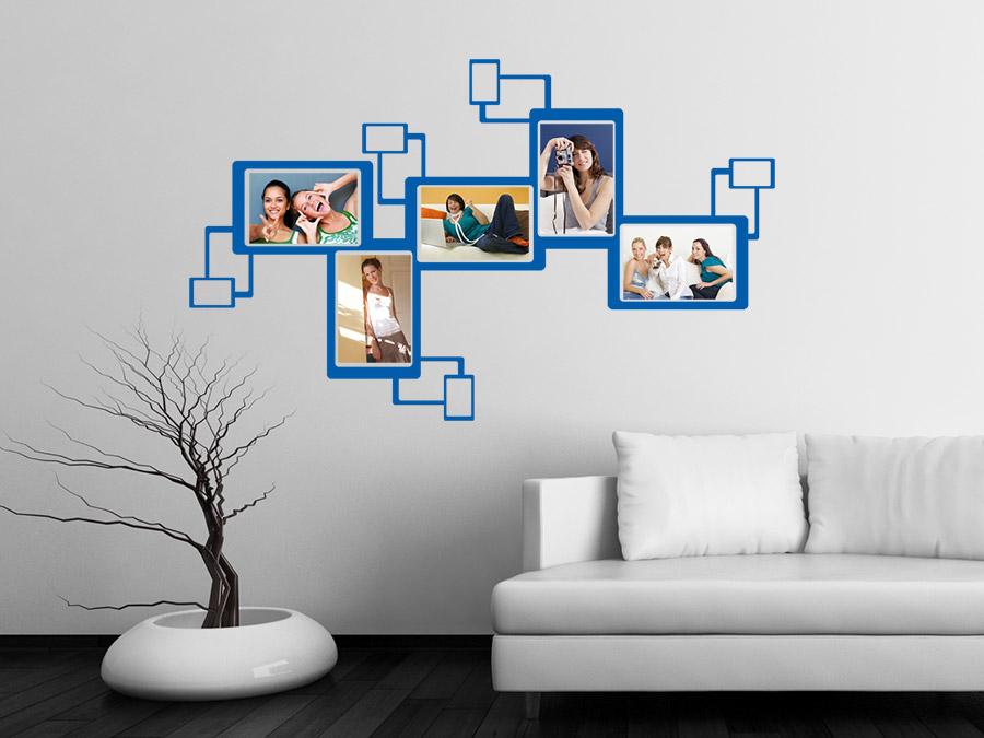 wandtattoo moderner fotorahmen bei. Black Bedroom Furniture Sets. Home Design Ideas